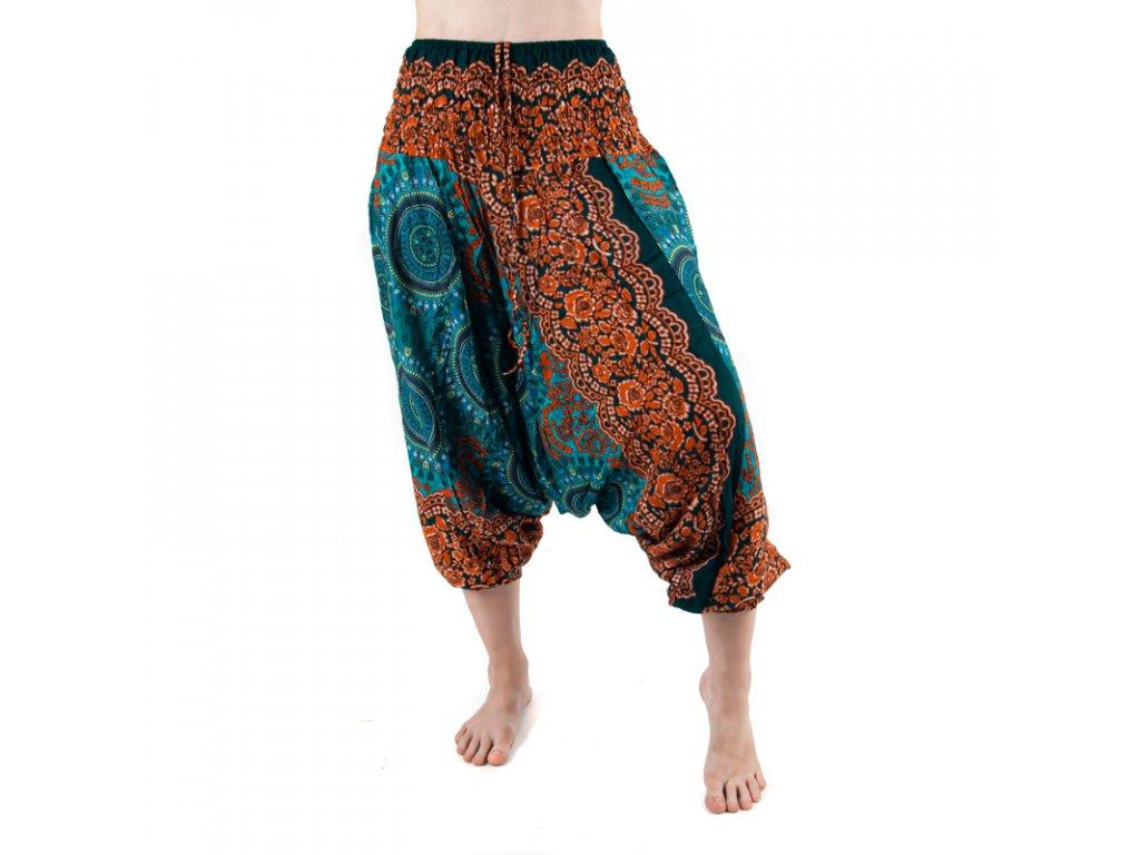 Kalhoty turecké dámské Trident Mandala M modrá