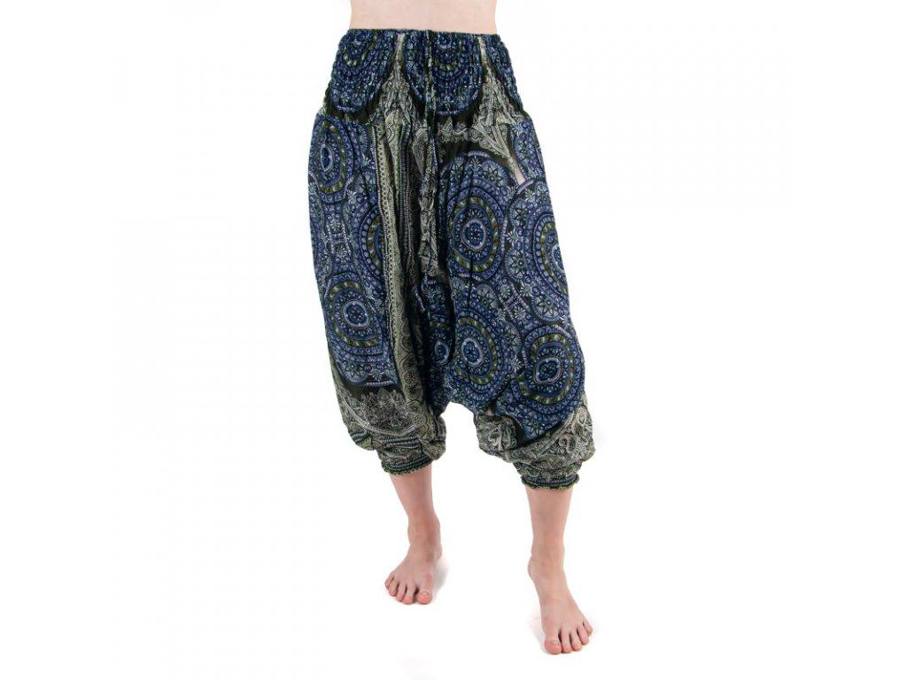 Kalhoty turecké dámské Ceremonial Mandala M tmavě modrá