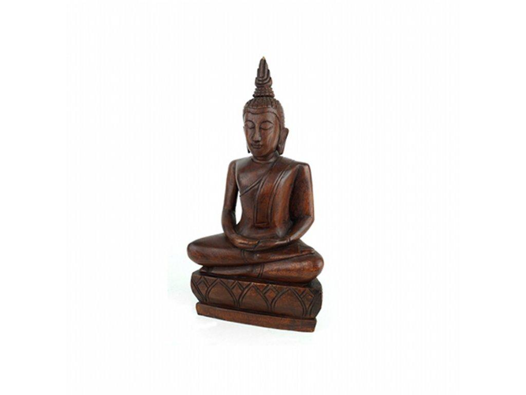 Soška dřevo Buddha Meditation 35 cm