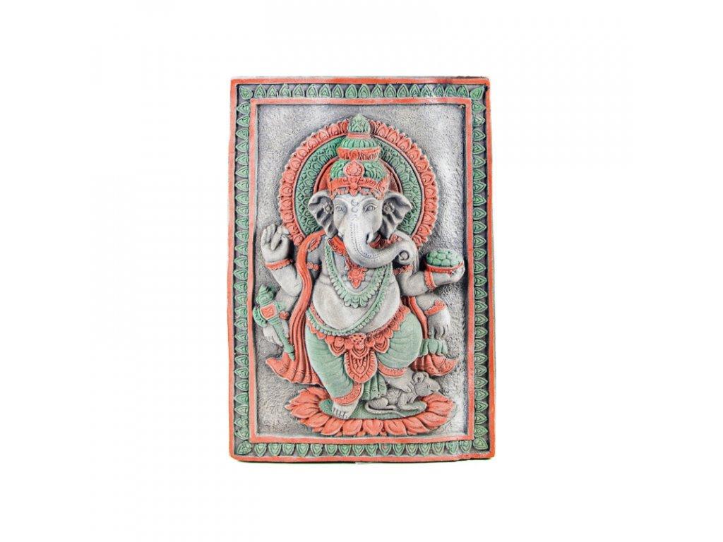 Dekorace beton Standing Ganesh 40 x 60 cm šedá