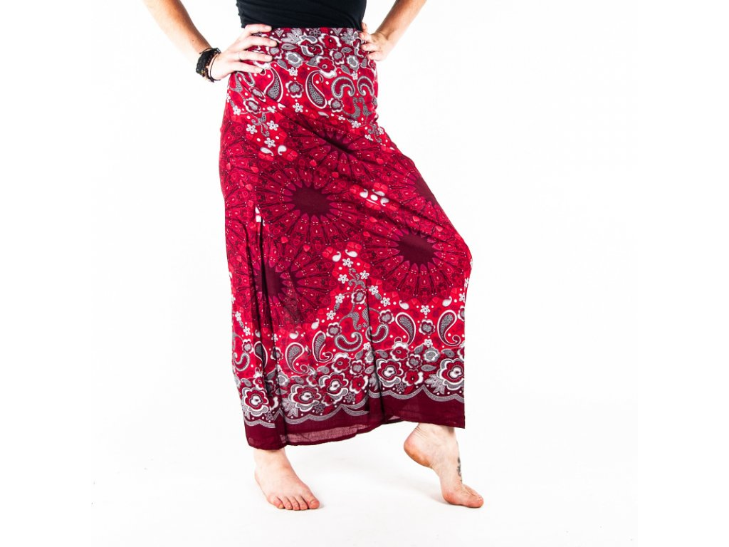 Sukně Ornament Mandala červená