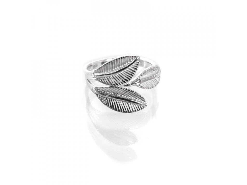 Prsten stříbro Tři listy 08