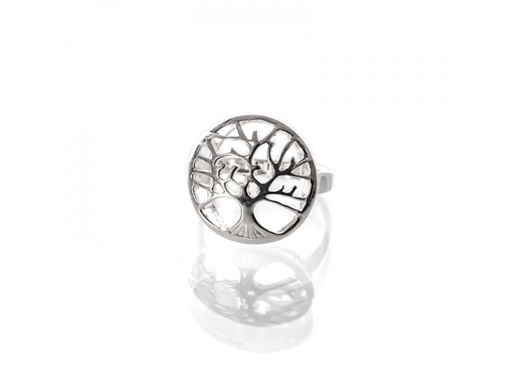 Prsten stříbro Strom života pečeť 08