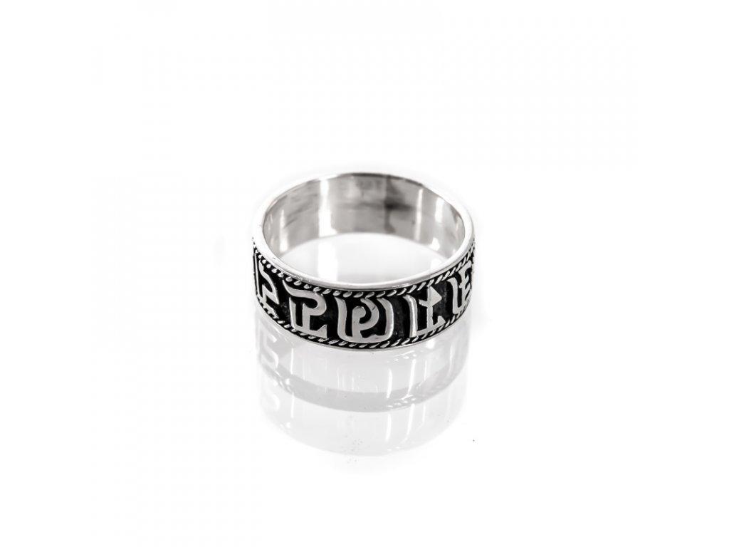 Prsten stříbro Om Mani Padme Hum 10