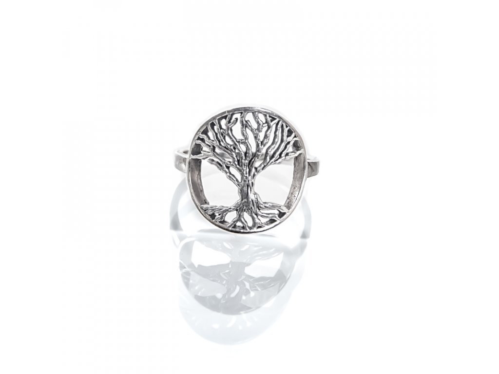 Prsten stříbro Strom života 08