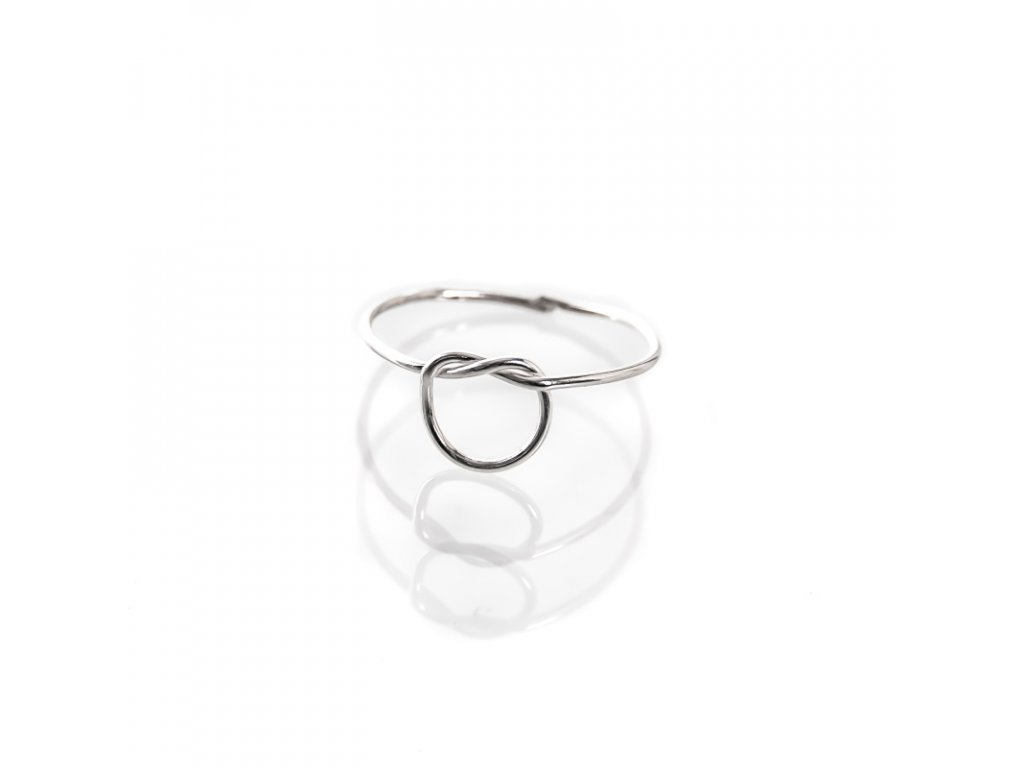 Prsten stříbro Simple Uzel 07