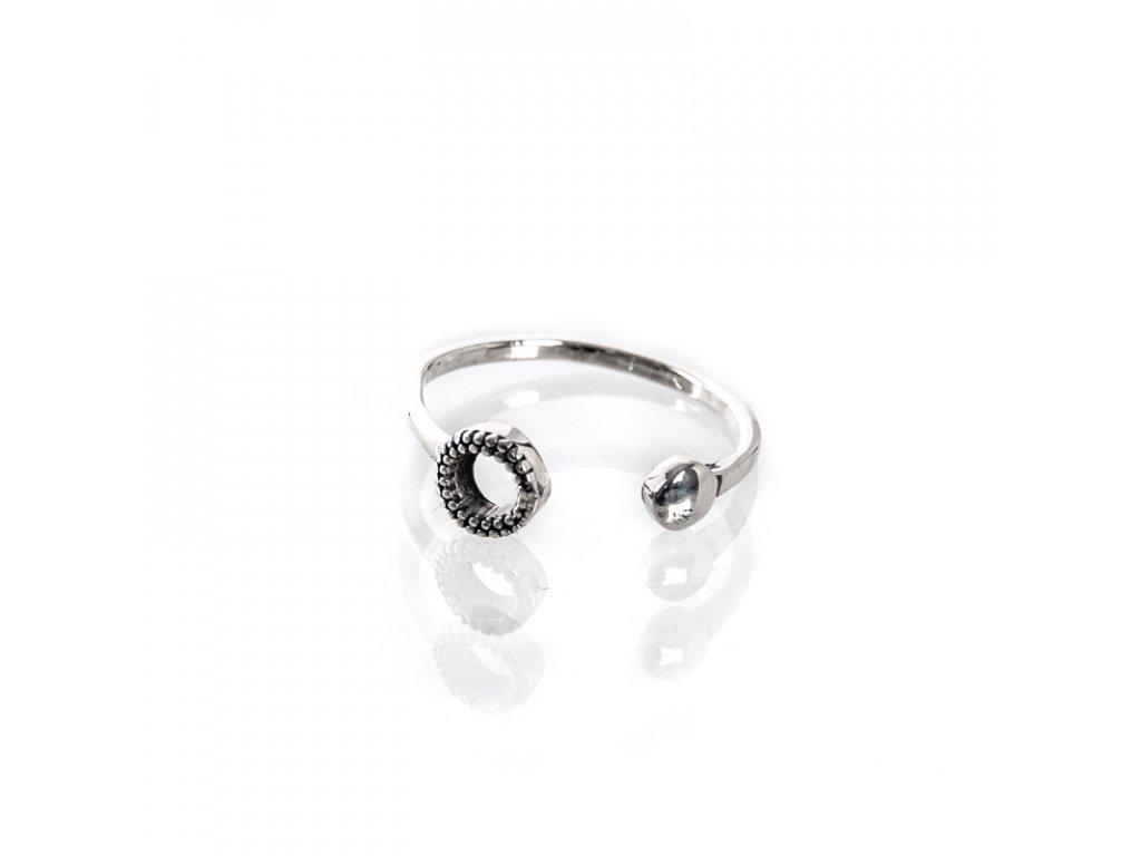 Prsten stříbro Očko otevřený 08