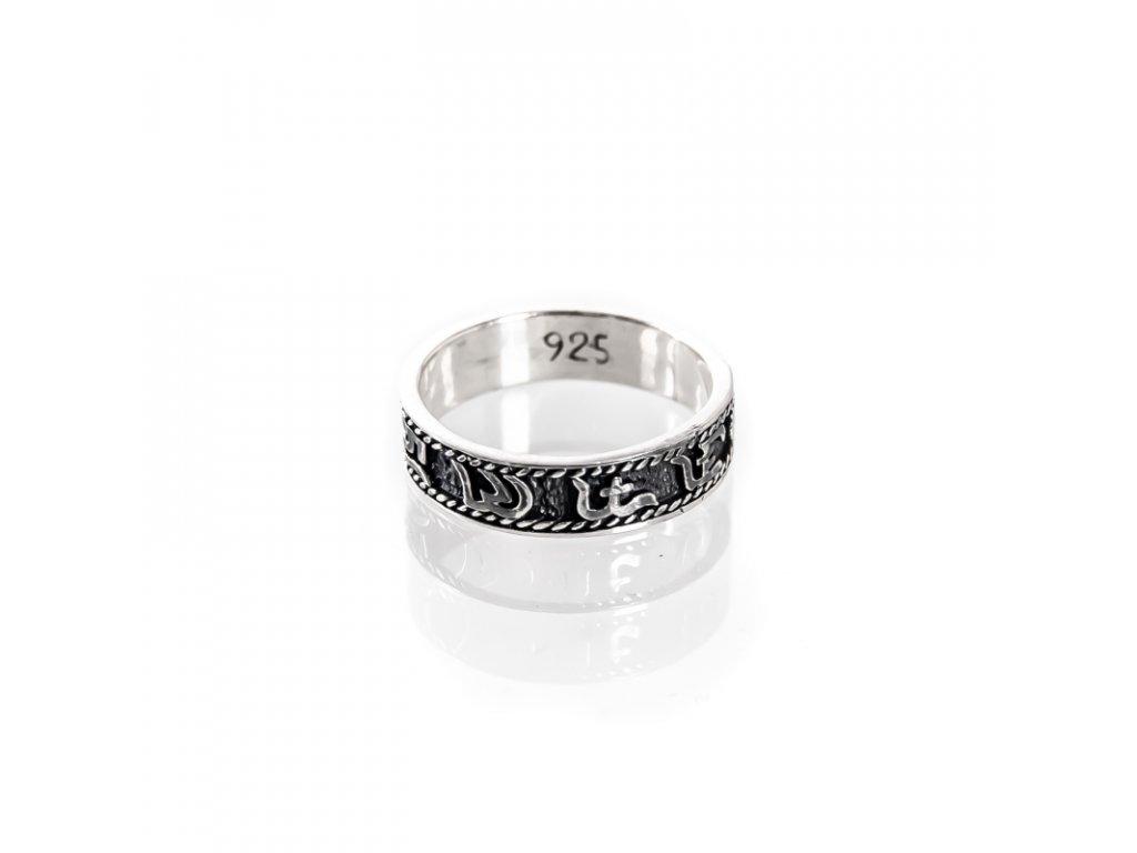 Prsten stříbro Mantra 08