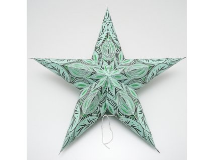 Lampion stínidlo hvězda Tara zelená