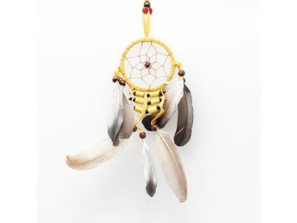 Lapač snů Native American 6 cm žlutá