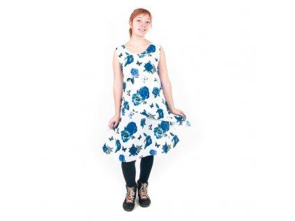 Šaty Tesanne Květy fialová