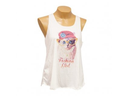 Tílko dámské Yoga Fashion Kitty béžová