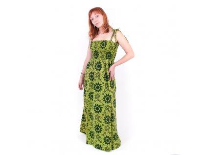 Šaty dlouhé Devi M Oranžová