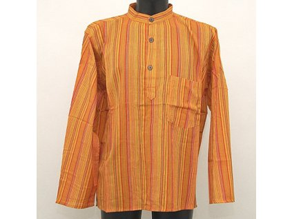 Košile kurta Roman M žlutá