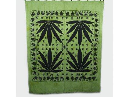Přehoz double Indica zelená
