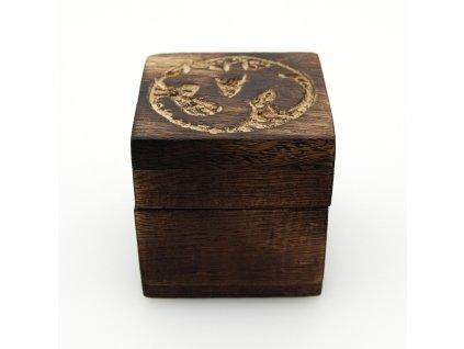 Krabička dřevěná Om