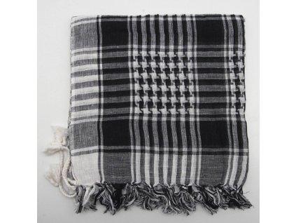 Šátek palestina arafat černo bílý