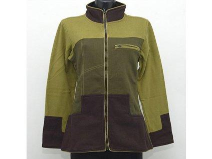 Mikina kabátek Marta L khaki černá