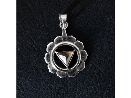 Přívěsek čakra Manipura stříbro