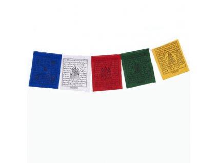 Tibetské modlitební vlaječky v1.1 Tiny 08 x 10 cm 5 ks