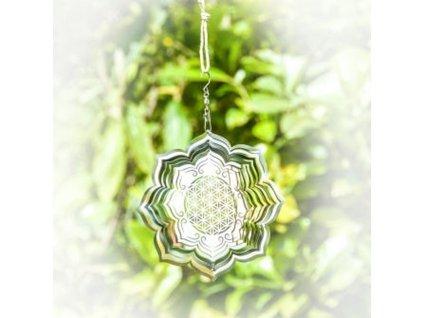 Závěsná dekorace Flower of Life Lotus 15 cm