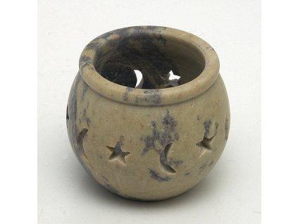 Svícen na čajové svíčky - měsíc a hvězdy