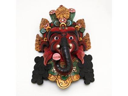 Maska dřevo Ganesh 60 cm