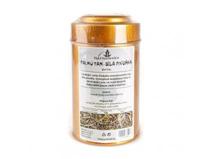 Čínský bílý čaj Pai Mu Tan - Bílá pivoňka 50 g dóza