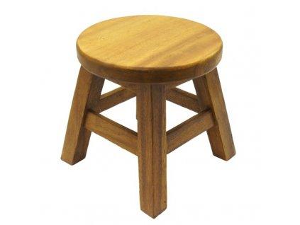 Stolička dřevo Round Plain 01
