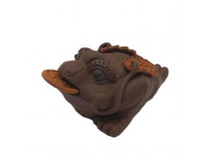 Čajový duch Žába 12 x 7 cm