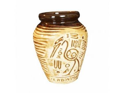 Kalabasa keramika YERBA Aztec 270 ml natural