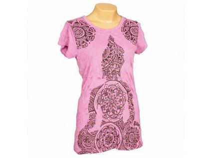 Tričko dámské SURE Mandala Buddha S bílá