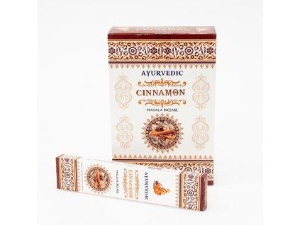 Indické vonné tyčinky Ayurvedic Cinnamon