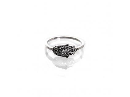 Prsten stříbro Hamsa 08