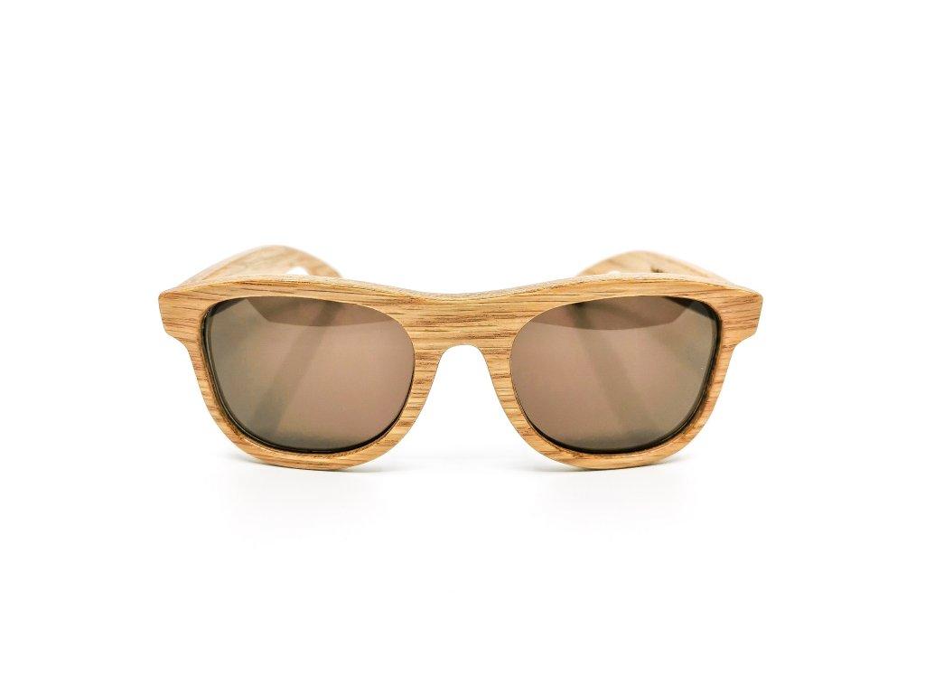 Dřevěné brýle Erdo dub hnědé skla