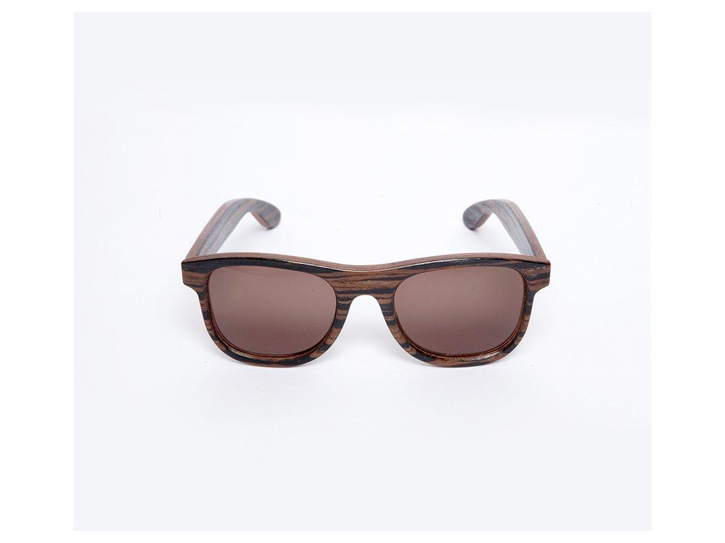 Dřevěné brýle Erdo eben