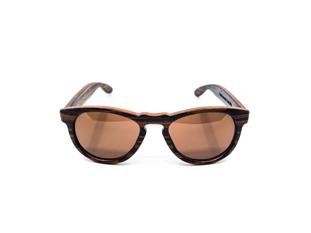 Dřevěné brýle DRU, eben 1