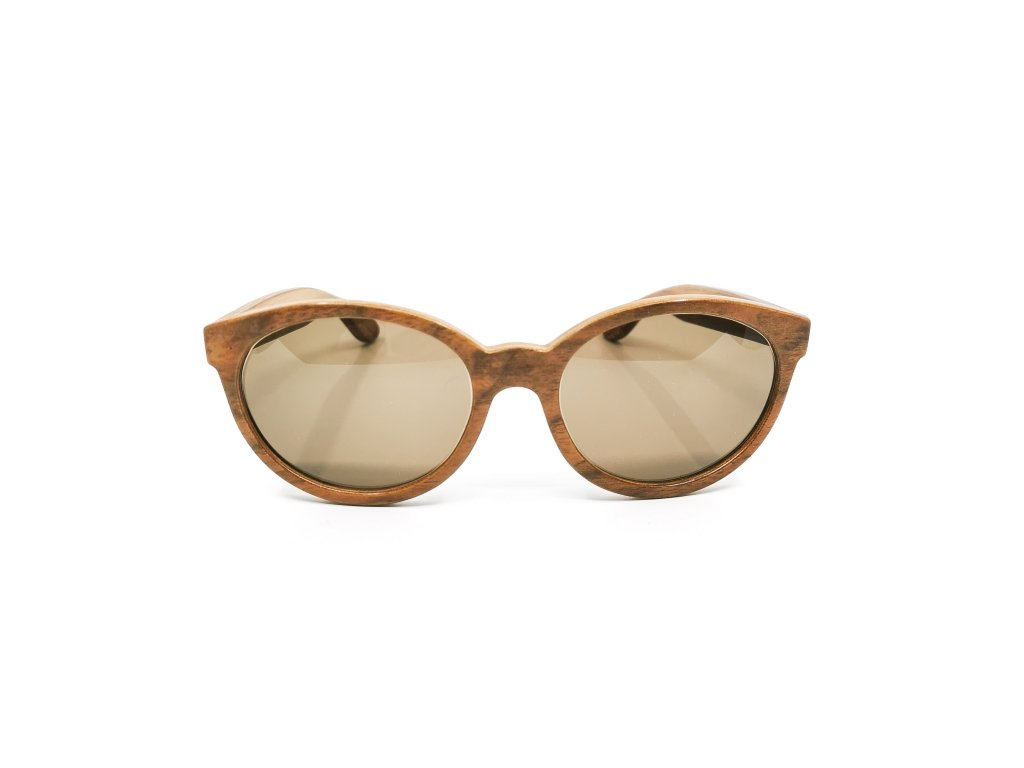 Dřevěné brýle Trae kiaat II