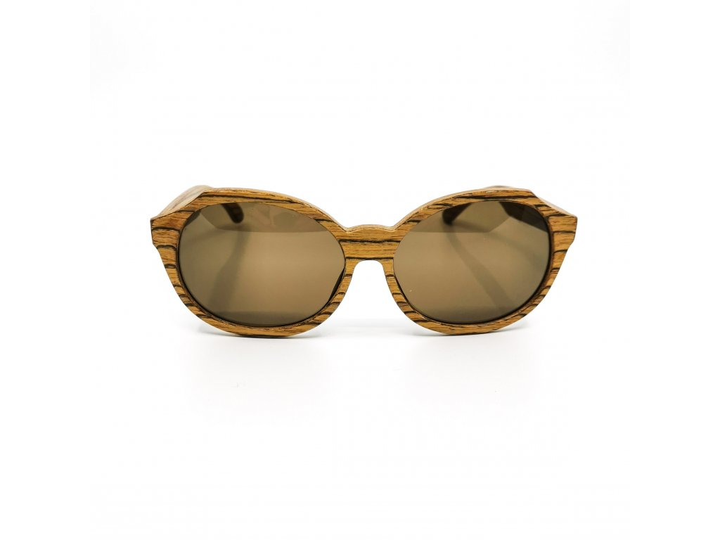 Dřevěné brýle Madeira zebrawood