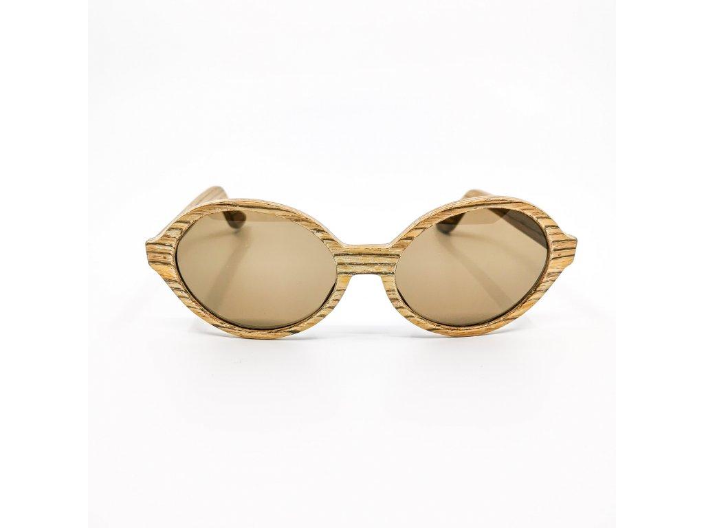 Dřevěné brýle Amelia zebrano