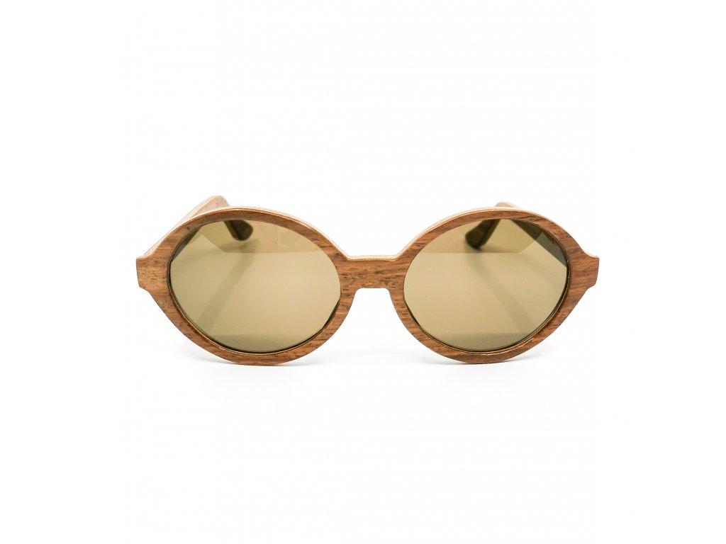 Dřevěné brýle Amelia ořech