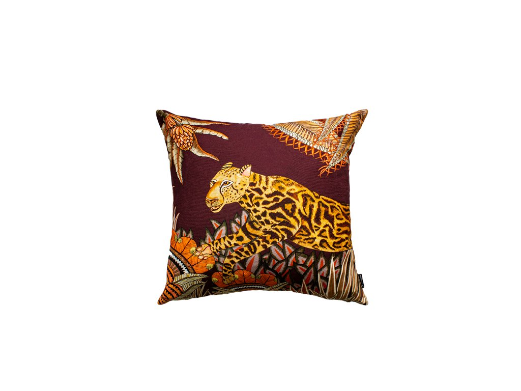 Polštář Cheetah King Forest Plum