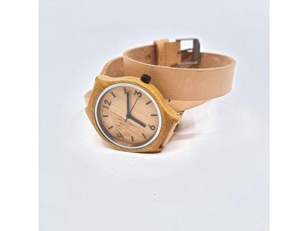 Bambusové hodinky Wrap nude