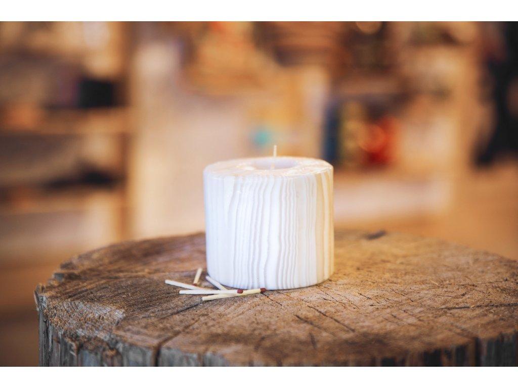 Svíčka Bamboo White