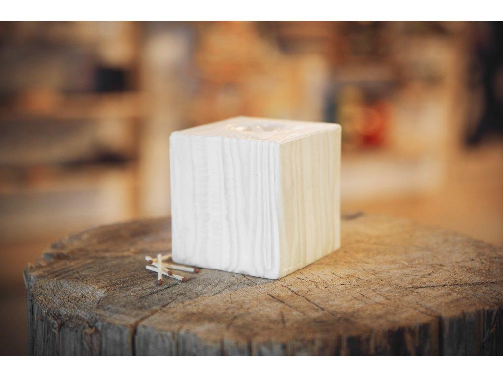 Svíčka Big Bamboo white