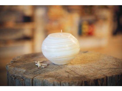 Svíčka Bamboo White koule
