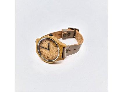Bambusové hodinky original beige