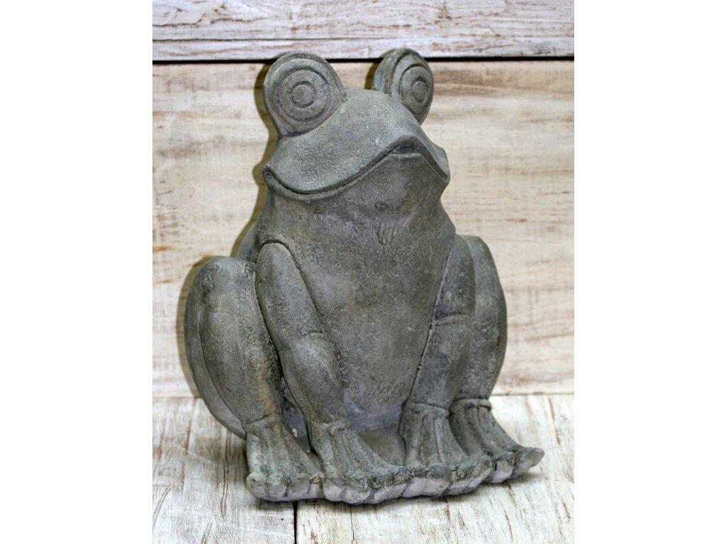 Fontána chrlič vody žába 40x30x30cm patina grey