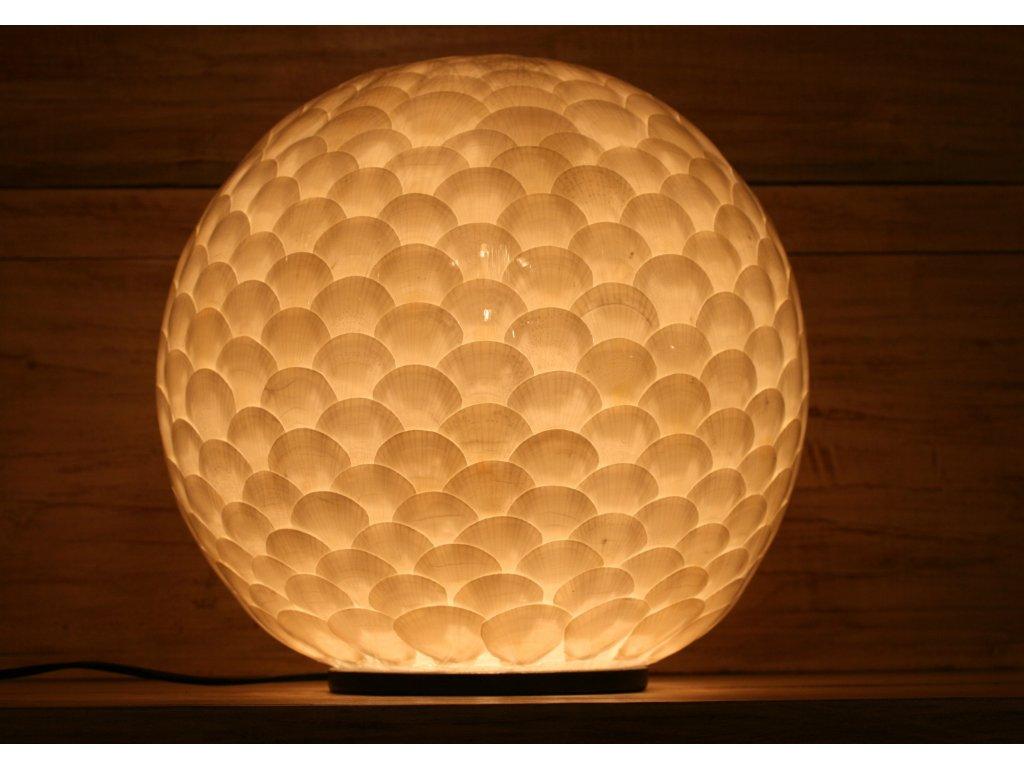 Originální stolní lampa z lastur (mušlí) velikost M, L