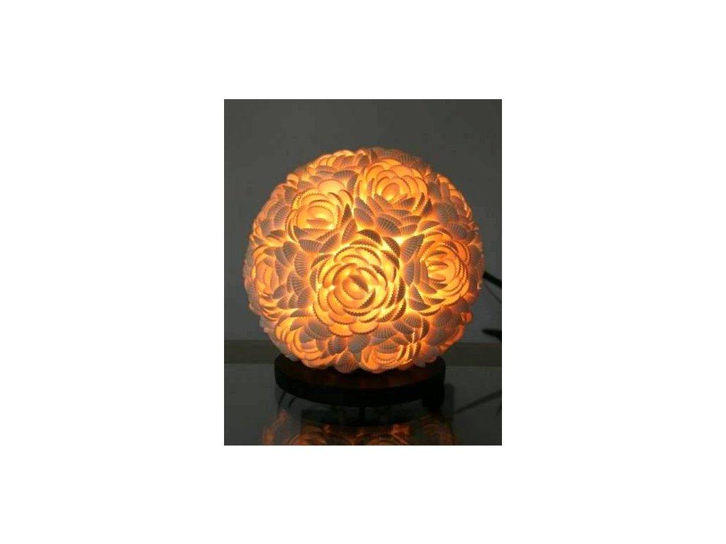Originální stolní lampa koule z lastur (mušlí) 20cm - rose